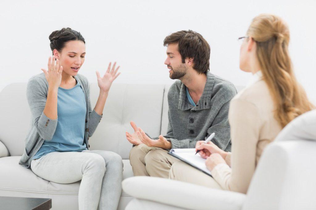 пара у семейного психолога
