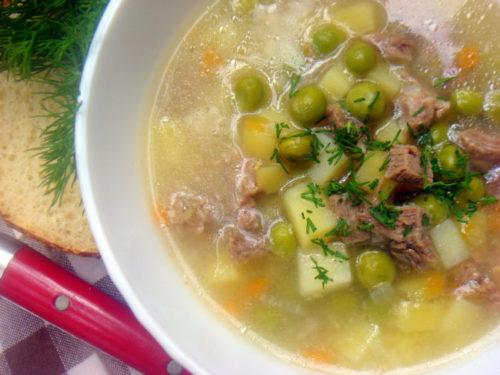 sup s goroshkom